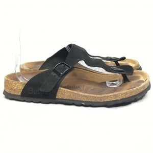 Betula Birkenstock Gizeh Black Leather Thong
